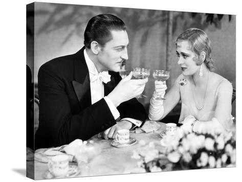 Silent Film Still: Drinking--Stretched Canvas Print