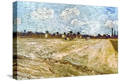 Van Gogh: Fields, 1888-Vincent van Gogh-Stretched Canvas Print