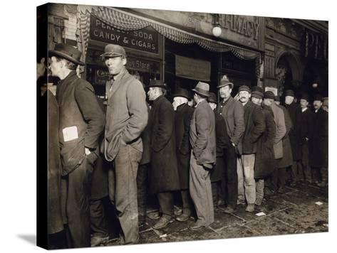 New York: Bread Line, 1907--Stretched Canvas Print