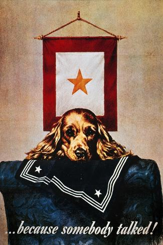 WWII: Propaganda Poster--Stretched Canvas Print
