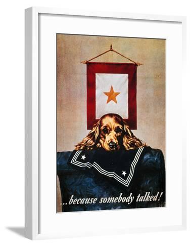 WWII: Propaganda Poster--Framed Art Print