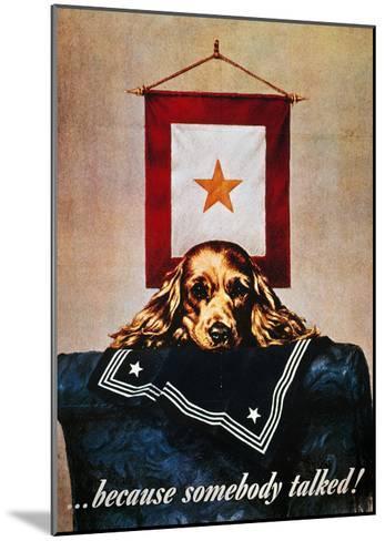 WWII: Propaganda Poster--Mounted Giclee Print