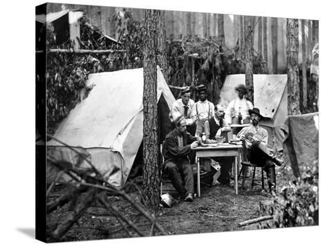 Civil War: Card Game, 1864--Stretched Canvas Print