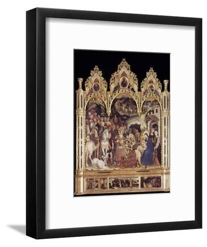 Adoration Of The Magi-Gentile Da Fabriano-Framed Art Print