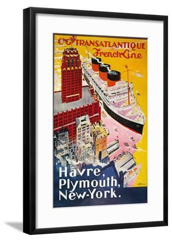 Steamship Poster, 1930S--Framed Art Print