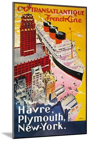 Steamship Poster, 1930S--Mounted Giclee Print