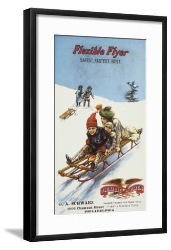 Flexible Flyer, 1900--Framed Art Print