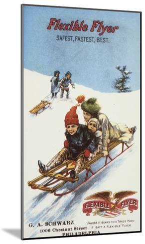 Flexible Flyer, 1900--Mounted Giclee Print