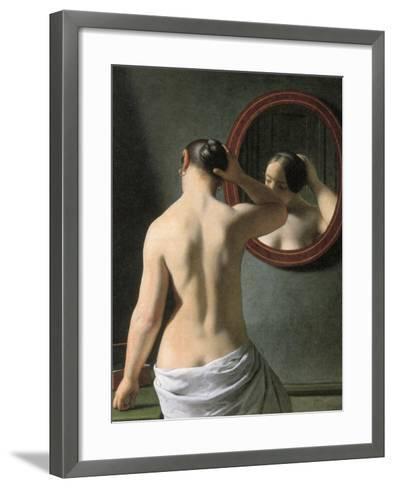 Eckersberg: Nude, C1837-Christoffer-wilhelm Eckersberg-Framed Art Print