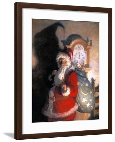 Wyeth: Old Kris (Kringle)-Newell Convers Wyeth-Framed Art Print