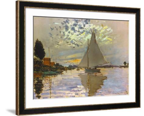 Monet: Sailboat-Claude Monet-Framed Art Print