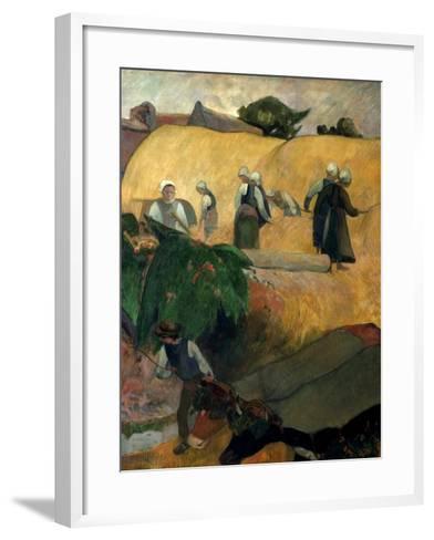 Gauguin: Breton Women-Paul Gauguin-Framed Art Print