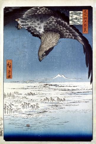 Hiroshige: Edo/Eagle, 1857-Ando Hiroshige-Stretched Canvas Print