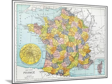 Map Of France, C1900--Mounted Giclee Print