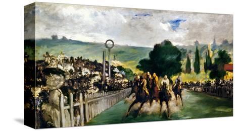Manet: Longchamps, 1867-Edouard Manet-Stretched Canvas Print