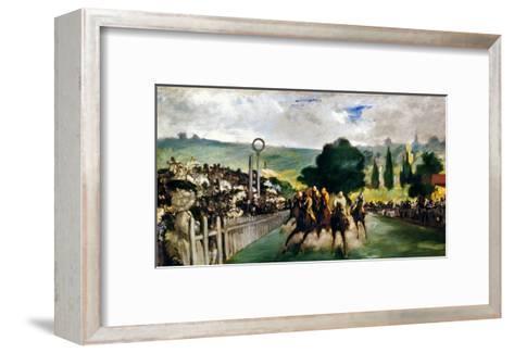 Manet: Longchamps, 1867-Edouard Manet-Framed Art Print