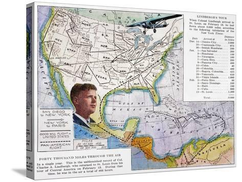 Charles Lindbergh--Stretched Canvas Print