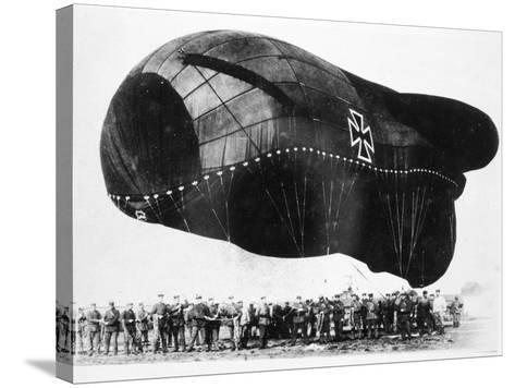 World War I: Airship--Stretched Canvas Print