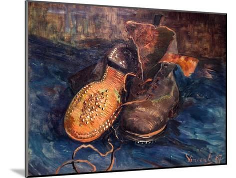 Van Gogh: The Shoes, 1887-Vincent van Gogh-Mounted Giclee Print
