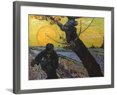 Van Gogh: Sower, 1888-Vincent van Gogh-Framed Art Print