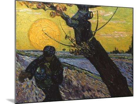 Van Gogh: Sower, 1888-Vincent van Gogh-Mounted Giclee Print