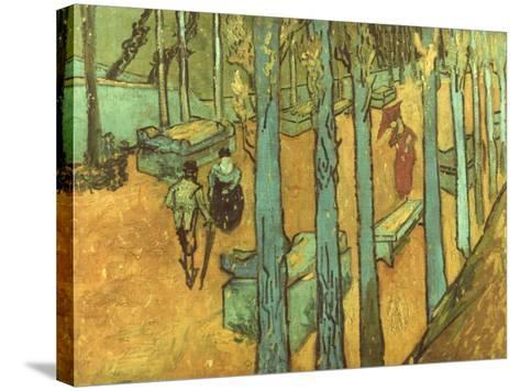 Van Gogh: Alyscamps, 1888-Vincent van Gogh-Stretched Canvas Print