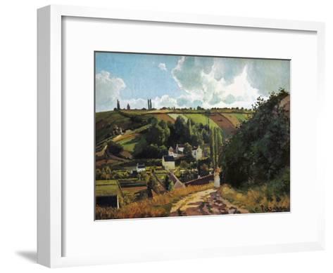 Pissarro: Jallais, 1867-Camille Pissarro-Framed Art Print