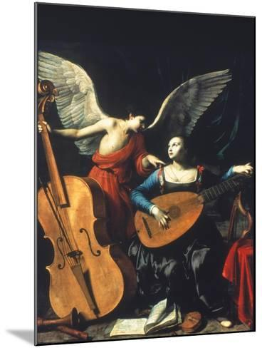 St. Cecilia And The Angel-Carlo Saraceni-Mounted Giclee Print