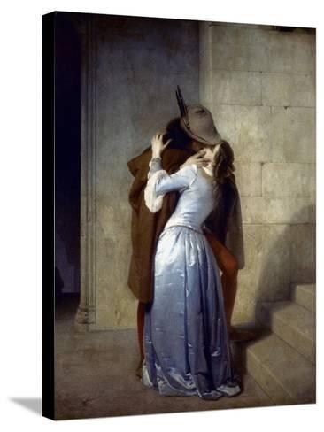 Hayez: The Kiss-Francesco Hayez-Stretched Canvas Print