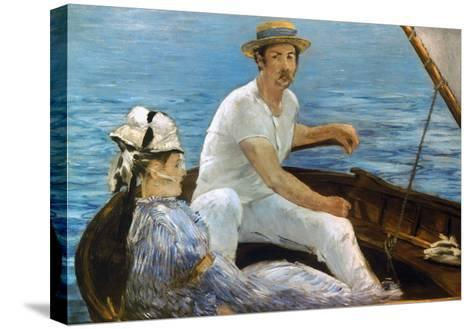 Manet: On A Boat, 1874-Edouard Manet-Stretched Canvas Print