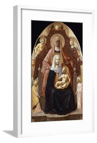 St. Anne, Madonna & Child.-Masaccio-Framed Art Print