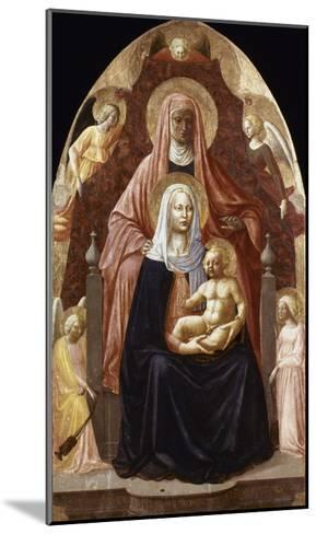 St. Anne, Madonna & Child.-Masaccio-Mounted Giclee Print