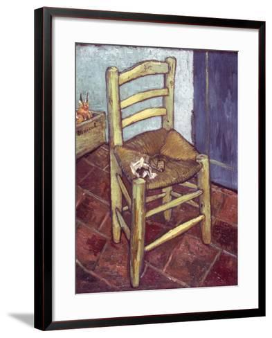 Van Gogh: Chair, 1888-89-Vincent van Gogh-Framed Art Print