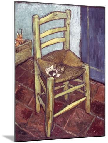 Van Gogh: Chair, 1888-89-Vincent van Gogh-Mounted Giclee Print