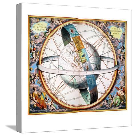 Ptolemaic Universe, 1660-Andreas Cellarius-Stretched Canvas Print