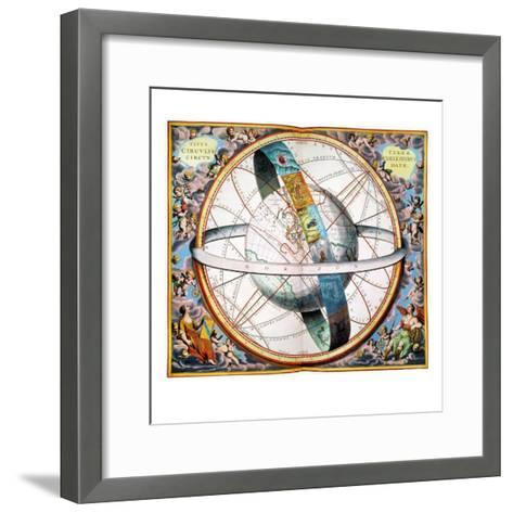 Ptolemaic Universe, 1660-Andreas Cellarius-Framed Art Print