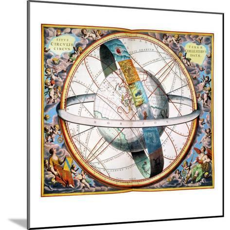Ptolemaic Universe, 1660-Andreas Cellarius-Mounted Giclee Print