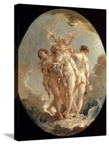 Boucher: Three Graces, 18 C-Francois Boucher-Stretched Canvas Print
