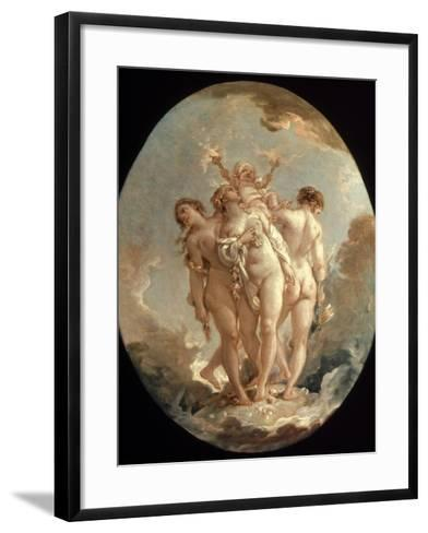 Boucher: Three Graces, 18 C-Francois Boucher-Framed Art Print