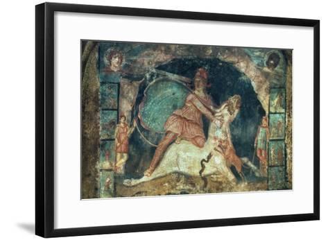 Mithras Killing The Bull--Framed Art Print