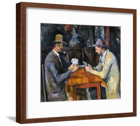 Cezanne: Card Player, C1892-Paul C?zanne-Framed Art Print