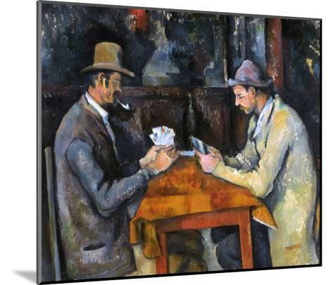 Cezanne: Card Player, C1892-Paul C?zanne-Mounted Giclee Print