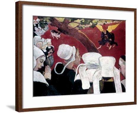Gauguin: Vision, 1888-Paul Gauguin-Framed Art Print