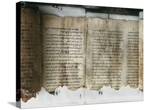Dead Sea Scroll--Stretched Canvas Print