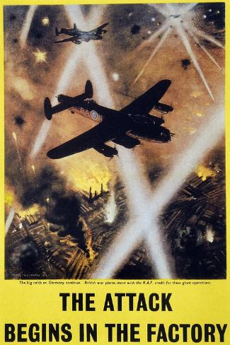 Wwii: English Poster, 1944--Stretched Canvas Print