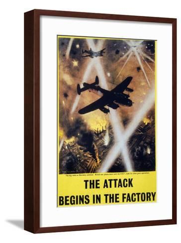 Wwii: English Poster, 1944--Framed Art Print