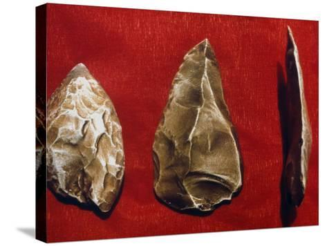 Paleolithic Tools--Stretched Canvas Print