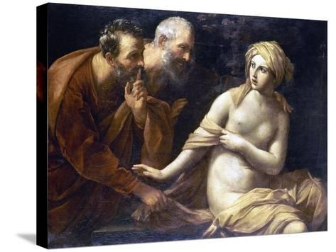 Susannah And Elders-Guido Reni-Stretched Canvas Print