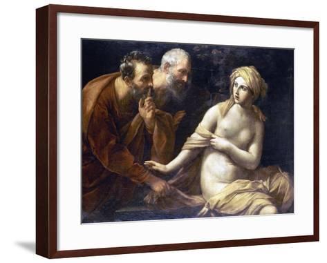 Susannah And Elders-Guido Reni-Framed Art Print
