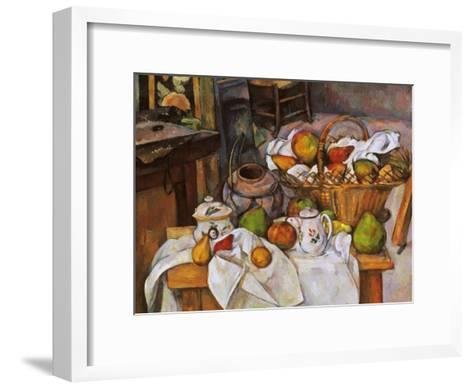 Cezanne: Table, 1888-90-Paul C?zanne-Framed Art Print
